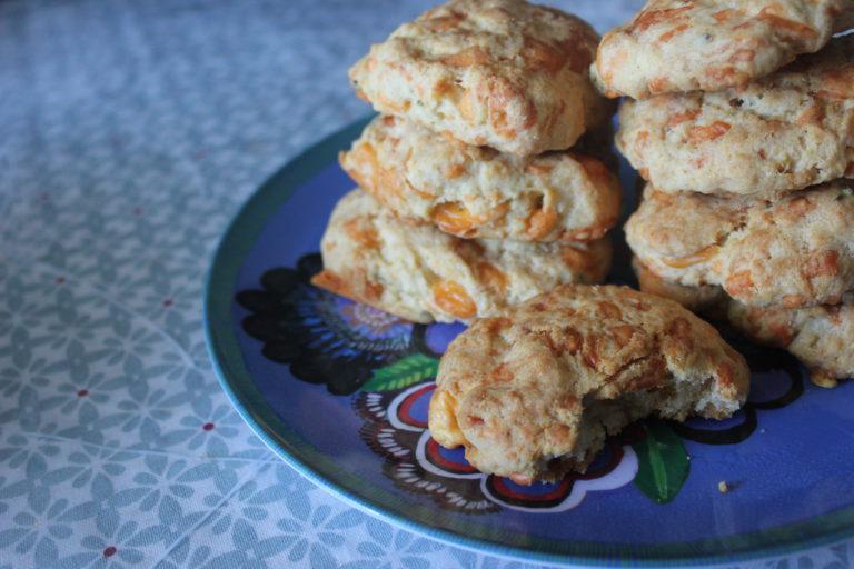 Cookies salés thym & cheddar
